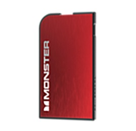 Batería Portátil Monster Mobile PowerCard Color Rojo / 050650705939