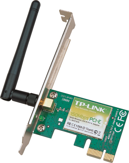 Adaptador PCI Express Inalámbrico N 150Mbps, TP-LINK TL-WN781ND