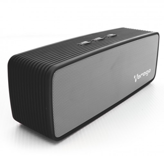 Bocina Portátil Recargable BSP-100 BOX, Bluetooth® / 3.5 mm / Speaker / MicroSD, Color Negro, VORAGO® AC-365874-1