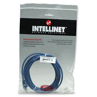 Cable patch cat 5e azul 1 mt