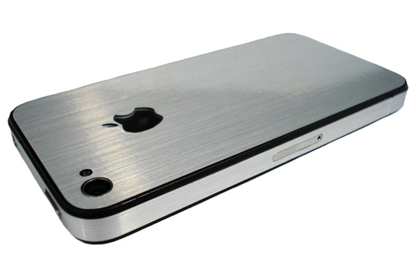 Brushed Stainless Steel Slickwraps para iPhone4