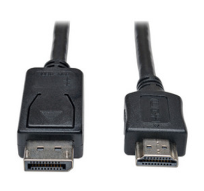 Adaptador TrippLite DisplayPort Macho a HDMI Macho, 0.91 m, P582-003