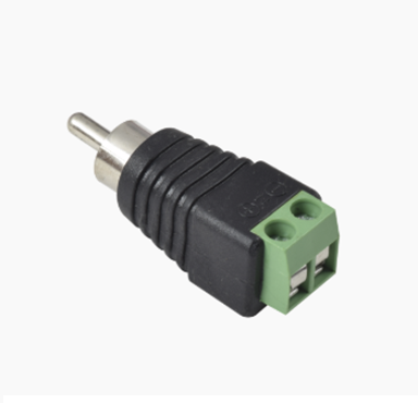 Adaptador RCA macho para video o audio con terminal atornillable, EPCOM JRR591