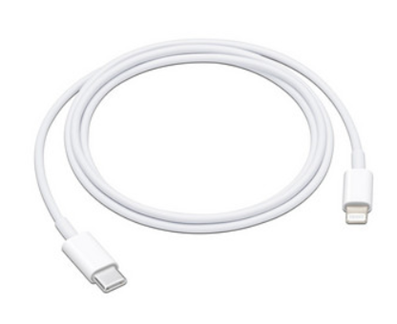 Cable de Datos USB-C a Lightning (Macho-Macho), 1m,  Color Blanco, APPLE MX0K2AM/A