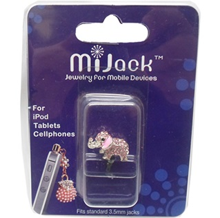 Accesorios Jack para 3.5mm para iPod, Tablets y Celulares. Phone Jack -Elephant-S-Pink