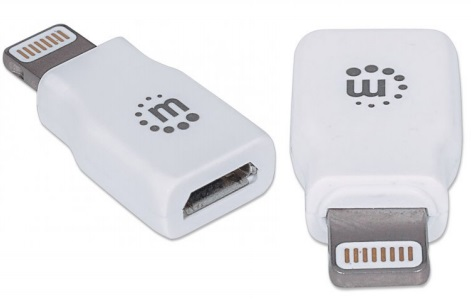 Adaptador iLink 	USB Micro a Lightning (8 Pin), Blanco