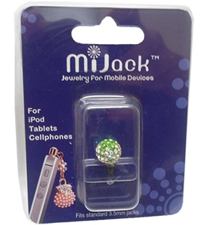 Accesorio Jack para 3.5mm para iPod, tablets y celulares. Phone Jack - Ball - S- Green