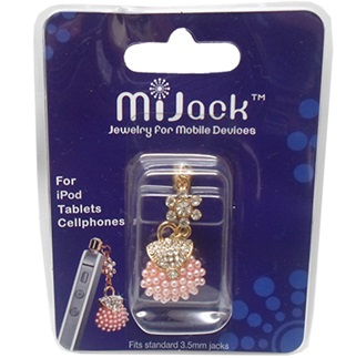 Accesorio Jack para 3.5mm para iPod, Tablets y Celulares. Phone Jack - Purse -E - Pink.