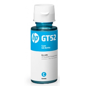 Botella de Tinta Original GT52, Color Cian, 8,000 pags, HP M0H54AL