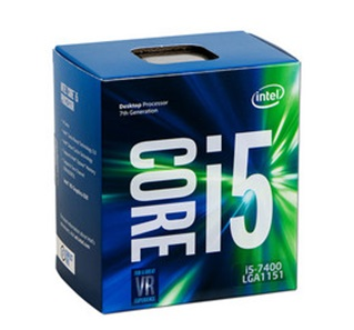 Procesador Intel Core i5-7400 de 7m Gen, 3.0 GHz (hasta 3.5 GHz), Intel HD Graphics 630, Socket 1151