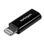 Adaptador de Conector Apple Lightning de 8 pines a Micro USB para iPhone / iPod / iPad - Negro, USBUBLTADPB
