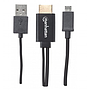 Adaptador de Video MHL - HDMI (M-M), C/ USB P/ Energia, Longitud 0.76 Metros, MANHATTAN 151498