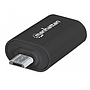 Adaptador Micro USB - USB (M-H), On-the-Go (OTG), Color Negro, MANHATTAN 406192
